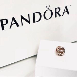 100% Authentic Pandora Shimmering Sentiments Rose